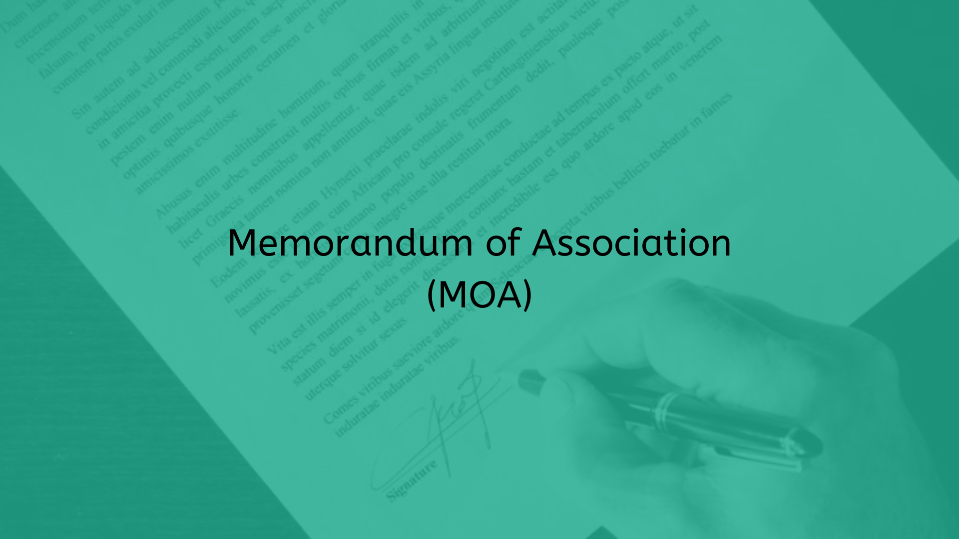 Memorandum of Association Under Section 4 of the Companies Act, 2013