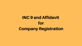INC 9 and Affidavit for Company Registration