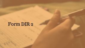 Filing of Form DIR-2 of Companies Act, 2013