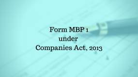 Filing of Form MBP-1 of Companies Act, 2013