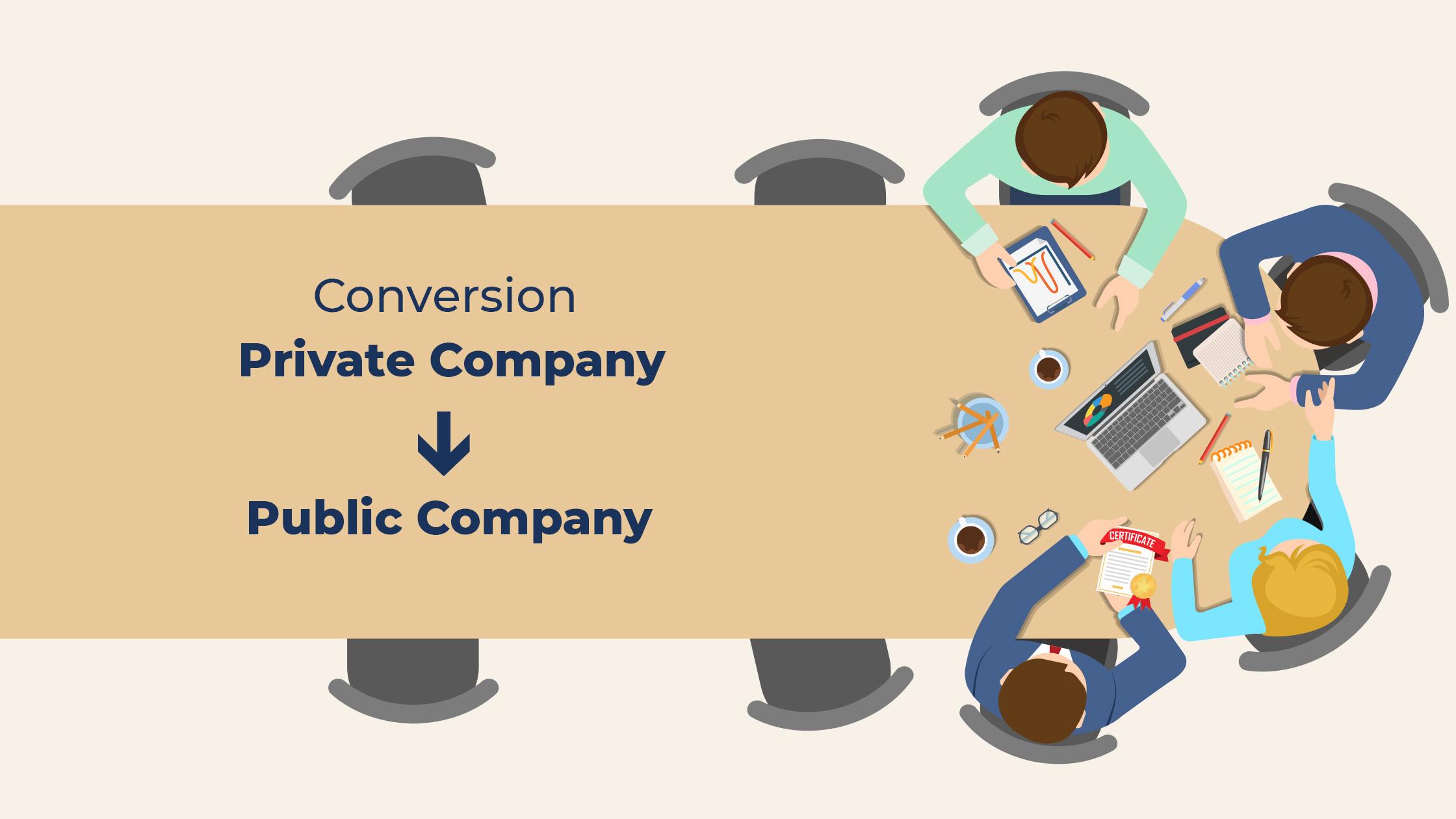 private company to public company